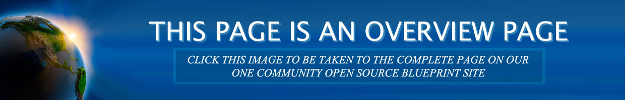One Community, link to open source blueprint, eco sustainable main page, eco sustainable solutions main site
